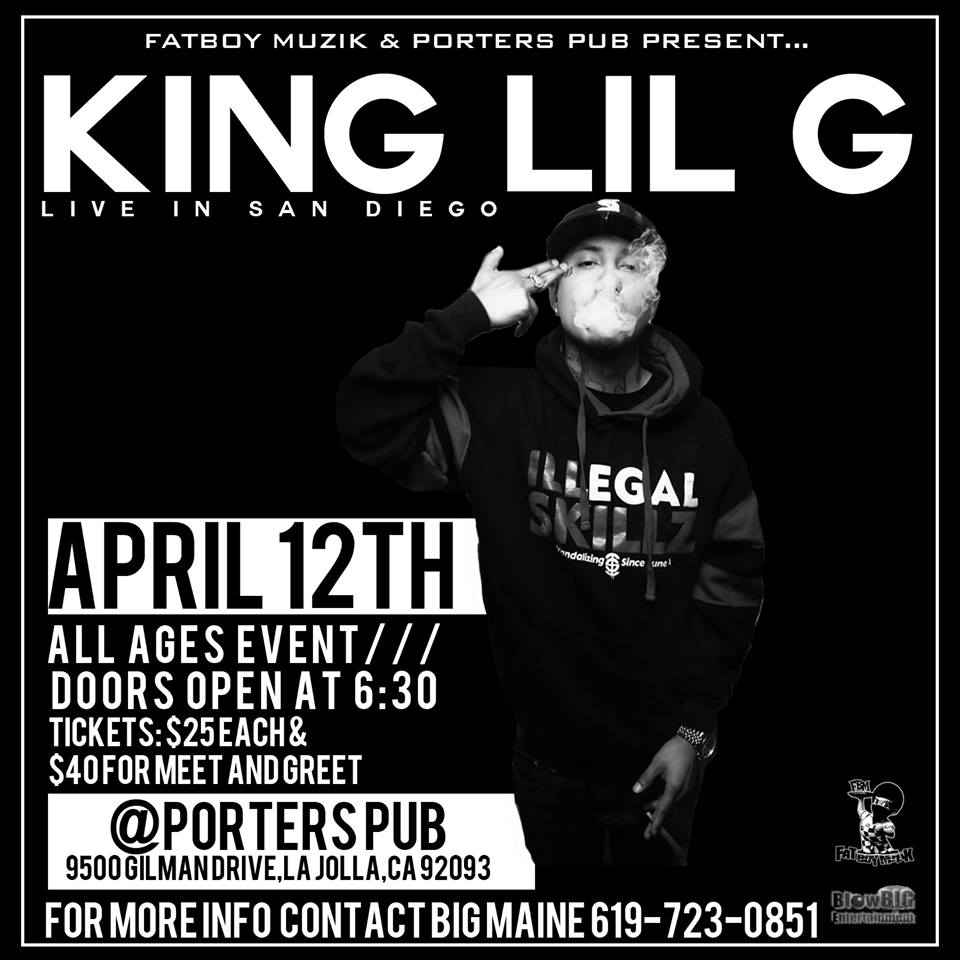 Fatboy muzik presents king lil g performing in san diego by fatboy muzik presents king lil g performing in san diego by fatboymuzik1975gmail on april 12 2015 in lajolla ca purplepass kristyandbryce Images