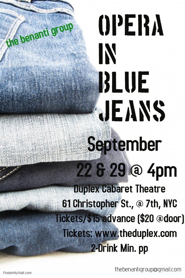 OPERA IN BLUE JEANS by The Duplex on September 22, 2018 in