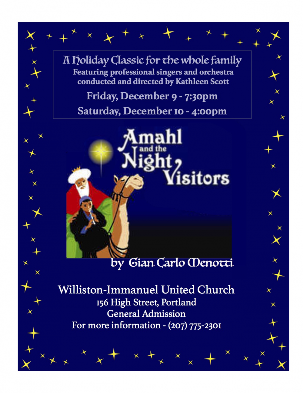 Amahl And The Night Visitors A Holiday Classic For The Whole