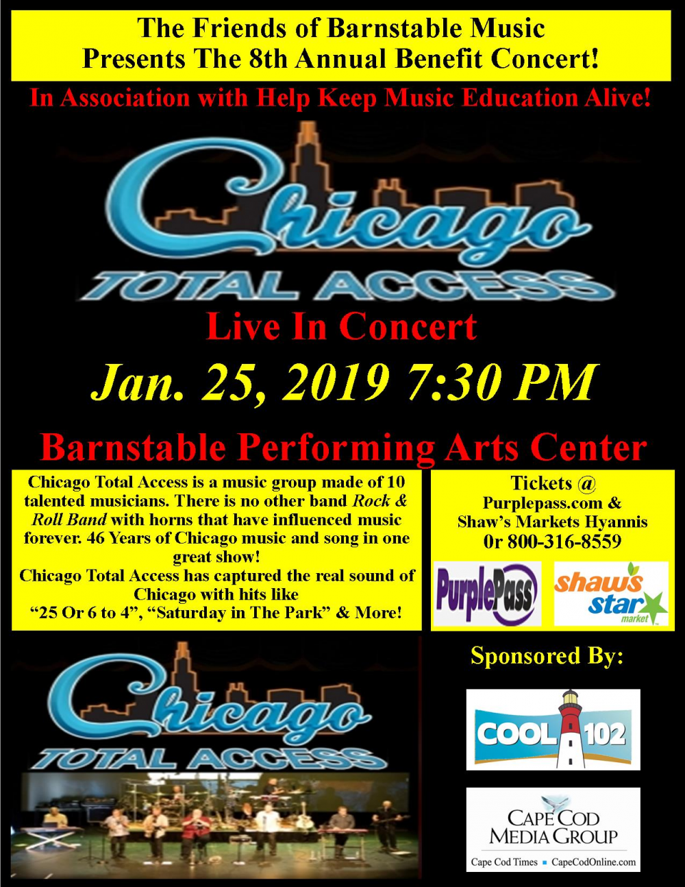 Chicago Total Access Live BPAC by Music Department on